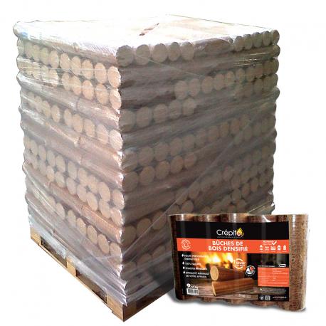 Bûches compressées CREPITO Palette 104 packs
